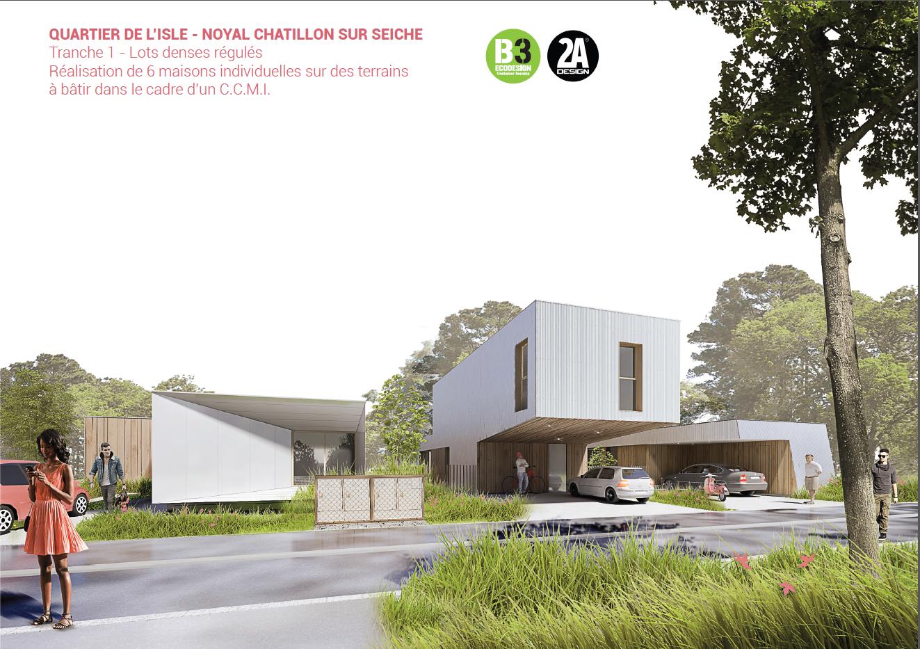 Visuel des maisons réalisées par B3ecodesign